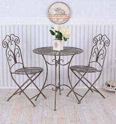 Art nouveau #wrought iron #patio set  garden furniture table 2 #chairs,  View more on the LINK: 	http://www.zeppy.io/product/gb/2/191640938620/