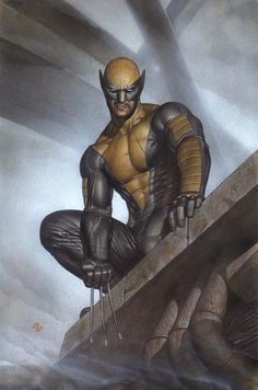 Adi Granov makes Logan's suit look real… I wish they consulted him for the Wolverine movie on how to use a costume without it looking fake. Then maybe we would had the costume in the film. Go read a. Marvel Wolverine, Marvel Comics, Logan Wolverine, Marvel Art, Anime Comics, Marvel Heroes, Wolverine Cosplay, Wolverine Movie, Comic Book Artists