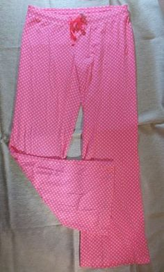 Victoria-Secret-Sleep-Lounge-Pants-Womens-XS-Thin-Stretchy-Yoga-Style-Pink-Dots