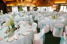 Tiffany and co themed wedding at Keeneland in Lexington, KY.