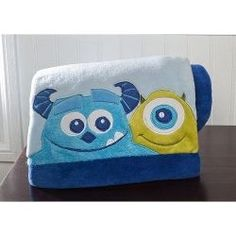 Monsters Inc. Baby Blanket- these are for baby boy! ML get ready to embroider!!!