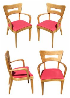 "Heywood Wakefield M154 ""DogBone"" Dining Chairs, Set of Four"