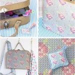 Embroidered suitcase - by Craft & Creativity