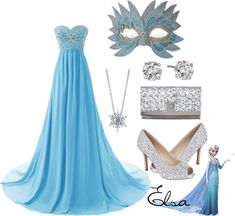 It says Elsa but I would definitely wear this for Cinderella as well. Elsa Inspired Masquerade Outfit