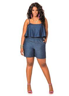 aecb20086c2 Popover Top Romper - Ashley Stewart Diva Fashion