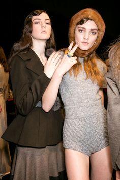 Blumarine Fall Winter 2016/17 Fashion Show Backstage #mfw
