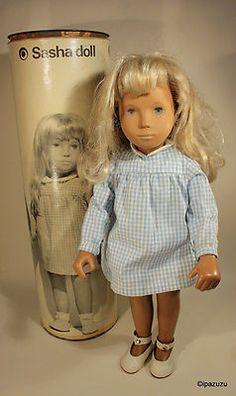 Vintage Sasha Doll Blonde Gingham Original Box Circa 1968 Creative Playthings | eBay