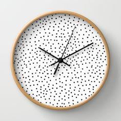 black dots - wall clock