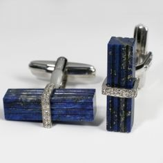 Silver and Lapis Cufflinks