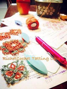 「つる薔薇のアーケード」製図の清書中~|RichetCochet~~Tatting Lace(リシェコシェ・タティングレース教室)