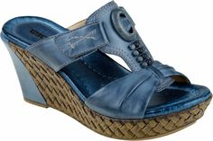 Earth Eden Women's Wedge Sandal (Moroccan Blue)