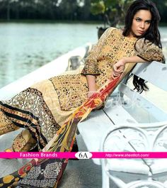 Price USD: $28 - Monsoon 6A of Monsoon Festivana Lawn Collection volume 1 2014 by Al-Zohaib Textile is a trendy stylish three piece suit.
