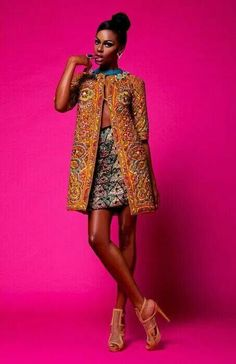Really loooooove this look ~Latest African Fashion, African Prints, African fashion styles, African clothing, Nigerian style, Ghanaian fashion, African women dresses, African Bags, African shoes, Kitenge, Gele, Nigerian fashion, Ankara, Aso okè, Kenté, brocade. ~DK