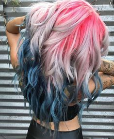 Are you looking for dark blue hair color for ombre and teal? See our collection full of dark blue hair color for ombre and teal and get inspired! Hair Color Blue, Hair Dye Colors, Cool Hair Color, Ombre Colour, Rainbow Hair Colors, Pastel Hair Colors, Pastel Blonde, Crazy Color Hair Dye, Wild Hair Colors