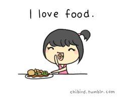 "Gadget per blog: orologio con benvenuto ""I love food"""