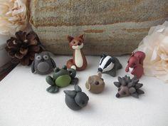 Woodland Army British wildlife polymer clay miniatures