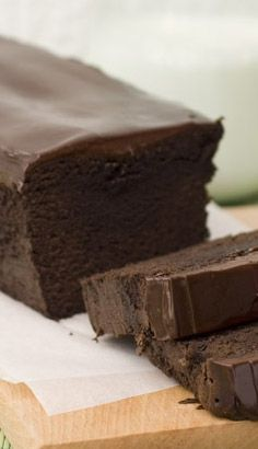 Chocolate Pound Cake with Chocolate Ganache - perfect chocolate recipe for real chocoholics.