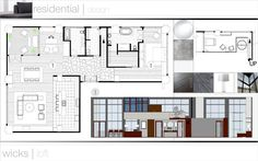 residential design by Dallas Willman, i like how they have the logo at the top with a consistent top and bottom border. wish the border was consistent on the sides as well. Interior Design Presentation, Free Interior Design, Interior Design Services, Project Presentation, Presentation Boards, Interior Ideas, Interior Design Portfolios, Architecture Panel, Interior Barn Doors
