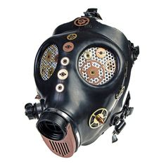 Solstice Cogs Masque A Gaz Accessoire Steampunk (Noir/Cuivre) - Taille unique: Amazon.fr: Sports et Loisirs