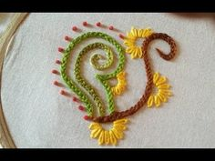 Quilling Made Easy : Hand Embroidery: Beautiful  Braided Chain Stitch  Design - YouTube