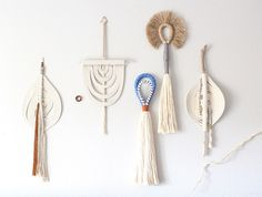 Tassels and rope wall hanging