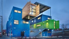 Shipping container house in Rhode Island.