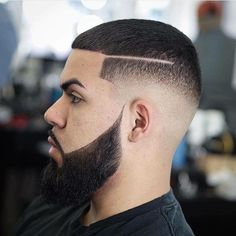 Black Men Haircuts, Black Men Hairstyles, Ethnic Hairstyles, Hairstyles Haircuts, Beard Haircut, Fade Haircut, Bald With Beard, Haircut Designs, Faded Hair