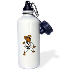 3dRose Funny Brown Dog in Karate Outfit, Sports Water Bottle, 21oz #fitnessoutfits