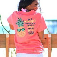 Monogrammed Pineapple Shirt | Marleylilly