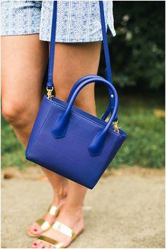 Dagne Dover Mini Tote in Dagne Blue * Blue Purse * Leather Mini Tote * Lou What Wear