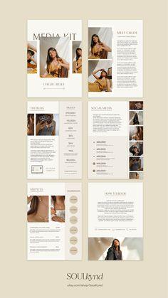 Magazine Layout Design, Book Design Layout, Page Design, Cv Original, Media Kit Template, Magazin Design, Newsletter Design, Flyer, Grafik Design