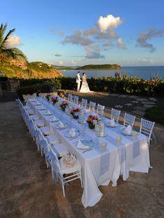 Villa wedding reception on st john october 2013 Beach Wedding Nails, Beach Wedding Guests, Beach Wedding Colors, Wedding Guest Style, Destination Wedding, Aisle Runner Wedding, Wedding Table, Wedding Reception Decorations, Wedding Receptions