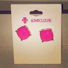BRAND NEW LoveCulture Hot Pink Earrings BRAND NEW LoveCulture Hot Pink Earrings. These earring are right on time for spring and easy to style. Jewelry Earrings