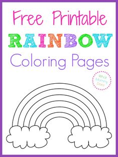 Free Printable Rainbow Coloring Pages - Large, medium, and small rainbow patterns to color. These make perfect worksheets for kids in the spring & summer. Not only do my children use these for coloring sheet activities, we find different ways to make rain Rainbow Unicorn Party, Rainbow Birthday Party, Rainbow Theme, Unicorn Birthday Parties, Rainbow Colors, Birthday Kids, Kids Rainbow, Coloring Sheets For Kids, Childrens Colouring Sheets