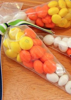 Easy Candy Corn Treat Bags