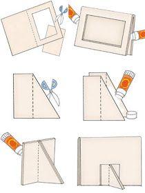 Casa Ro: DIY: hacer que su marco . Diy Photo Frame Cardboard, Photo Frame Crafts, Cardboard Box Crafts, Cardboard Furniture, Diy Arts And Crafts, Diy Crafts To Sell, Diy Paper, Paper Art, Paper Frames