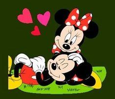 Mickey And Minnie Love, Mickey Mouse Art, Mickey Mouse Wallpaper, Mickey Mouse And Friends, Cartoon Wallpaper, Cute Cartoon Girl, Cute Love Cartoons, Walt Disney, Disney Art