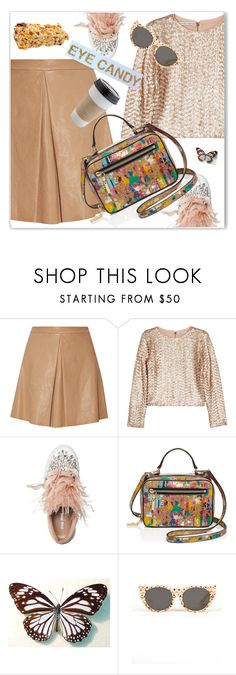 """On the Go"" by nantucketteabook ❤ liked on Polyvore featuring Alice + Olivia, Miu Miu, Milly, Tsumori Chisato, OUTRAGE and Spring"