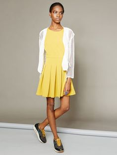 Robe casual courte Highlight Lie #asapparis #asap #paris #street #fashion #trend #summerdress #dress #yellow #skaterdress #summer #highlight #sun