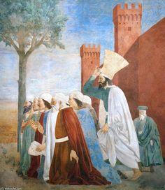 '9. Exaltation of the Cross (detail) (12)', Frescoes by Piero Della Francesca (1415-1492, Italy)