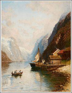 Anders Askevold (1834–1900), La Traversée du Fjord - 1894