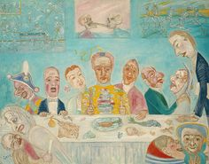 The Banquet of the Starved, 1915, James Ensor (Belgian), Oil on canvas (67.187.68)