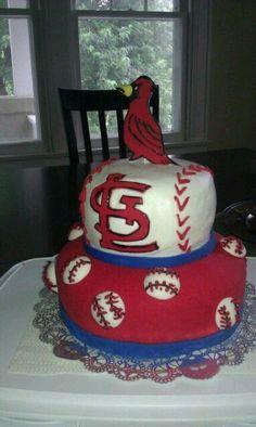 STL cardinals cake!!!!!