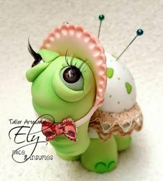 tortuga alfiletero en porcelana fria