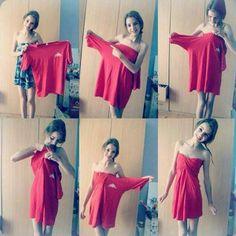 How to wear ur boyfriends shirt lol