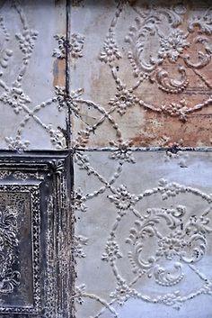 plumes-feathers: Paris Moments - Little Helsinki Tin Tiles, Tin Ceiling Tiles, Helsinki, Ivy House, House 2, Jolie Photo, Architectural Salvage, Garden Styles, Potpourri
