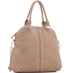 Concealed Carry Large Trendy Satchel Ambidextrous, faux leather, removable adjustable holster. Large,  roomy 14 x 13 x 5 inches. Includes long shoulder strap. Color is a gorgeous creamy beige.Please ask all your questions before you purchase! I am happy to help! Sorry, no trades. Please, no lowball offers. Happy Poshing! Emperia Bags Satchels