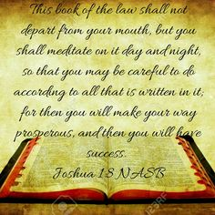 Joshua 1:8 (NASB)