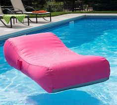 Super comfortable with a curved design and soft removable cover, the Capri Lounger Pool Float takes backyard relaxation to the next level. Sit back poolside or drift lazily on the water – this float lets you feel luxurious either way. Swimming Pool House, Swimming Pools, Pool Floats For Adults, Pool Storage, Backyard Pool Designs, Pool Furniture, Outdoor Furniture, Pool Accessories, Pool Supplies