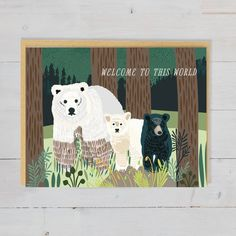 This cute congratulations baby card is perfect for welcoming any new human into the world! This baby card is gender-neutral and perfect for any occasion. Invitations and announcements Congratulations Baby Card, Adoption Card, bringing awareness to wilderness and wildlife protection in the Pacific Northwest. Baby Congratulations Card, Wildlife Protection, Baby Cards, Pacific Northwest, Gender Neutral, Beautiful World, Welcome, Wilderness, Moose Art
